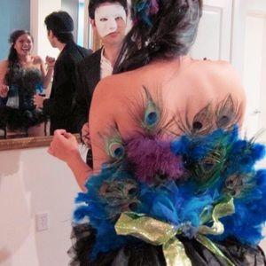 Peacock Corset Costume (Corset/ back tail)